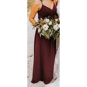 Sorella Vita Burgundy Bridesmaid Dress